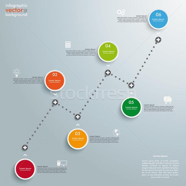 Idővonal sikeres diagram körök szürke eps Stock fotó © limbi007