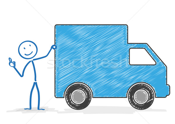 Stickman Shipping Car OK Stock photo © limbi007