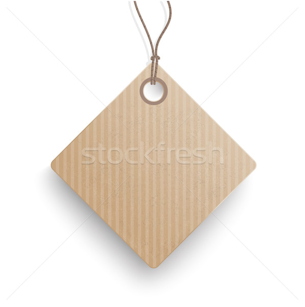 Carton Hanging Quadratic Price Sticker  Stock photo © limbi007