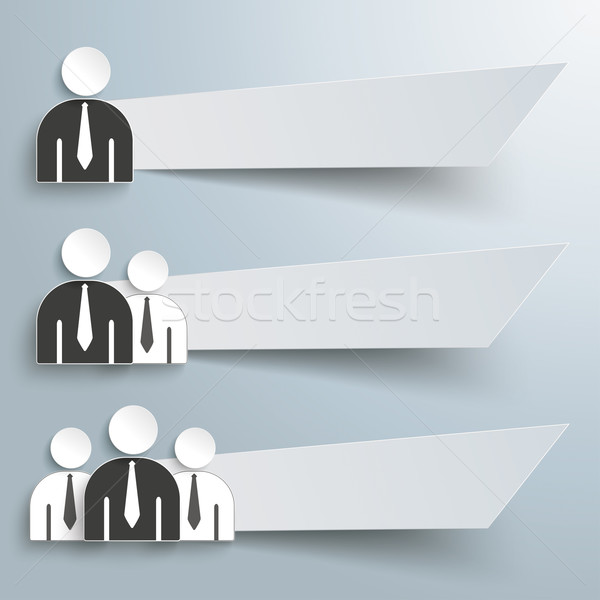 Businessmen 3 Paper Banners Infographic Stock photo © limbi007
