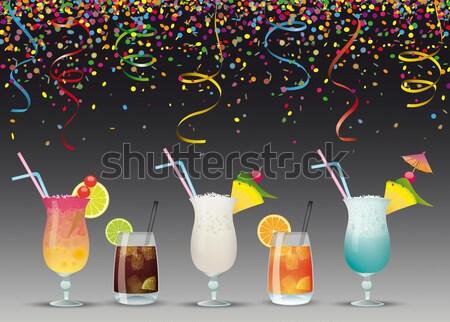 Cocktails Summer Party Stock photo © limbi007