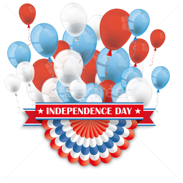 Independence Day Bunting Balloons Stock photo © limbi007