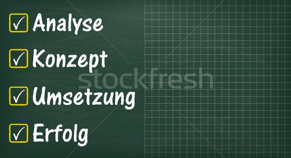 Long Blackboard Analyse Erfolg Stock photo © limbi007