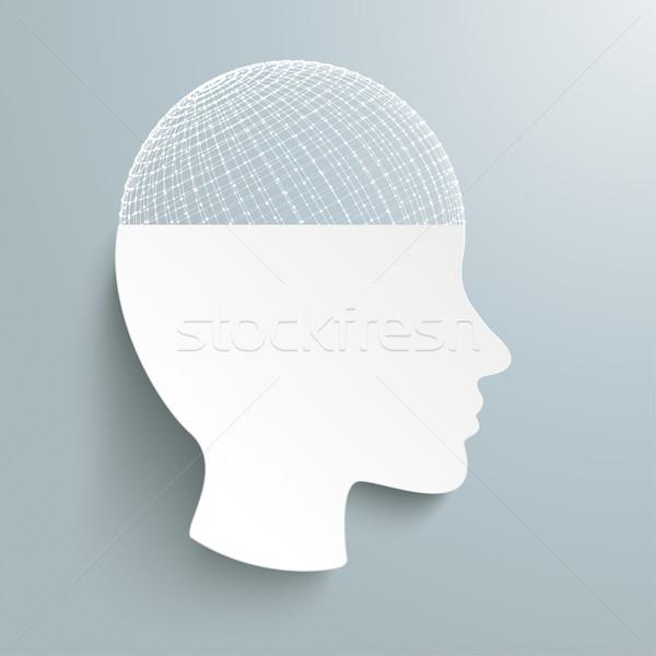 Umani testa grigio eps 10 Foto d'archivio © limbi007