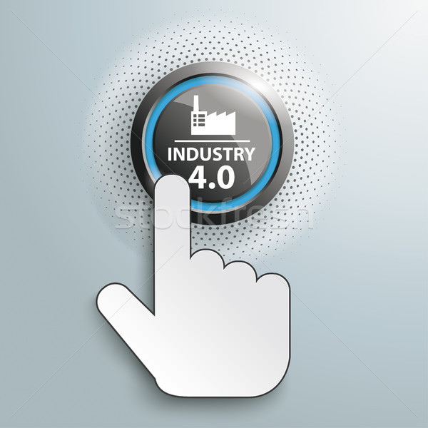 Click Hand Push Button Industry 4.0 Stock photo © limbi007
