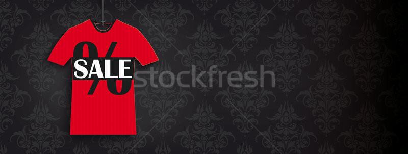 Red T-Shirt Sale Price Sticker Black Ornaments Header Stock photo © limbi007