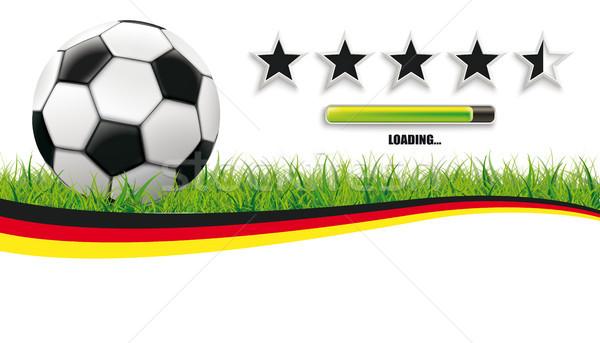 Foto stock: Futebol · grama · Alemanha · branco · clássico