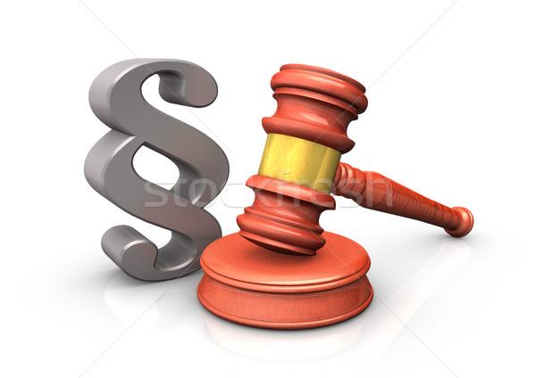 Judge Hammer 3D Stock photo © limbi007