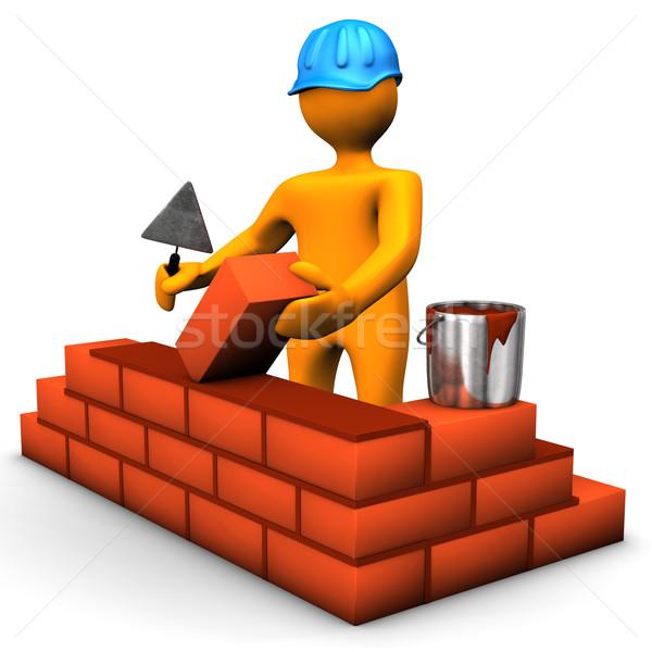 Building Worker Stock photo © limbi007