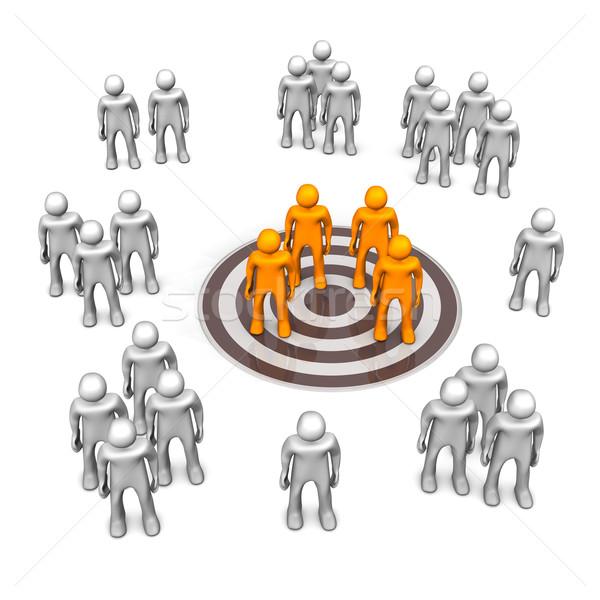 Objetivo audiencia grupos blanco negocios mujer Foto stock © limbi007