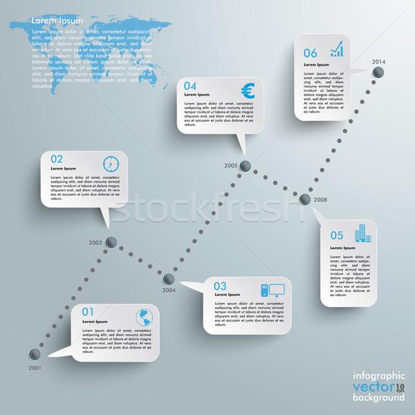 Idővonal sikeres diagram szürke eps 10 Stock fotó © limbi007