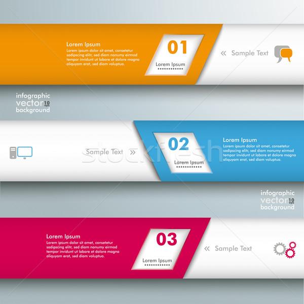 Infographic 3 Bevel Lines Stock photo © limbi007