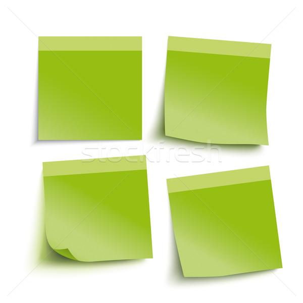Verde adesivos cinza eps 10 Foto stock © limbi007