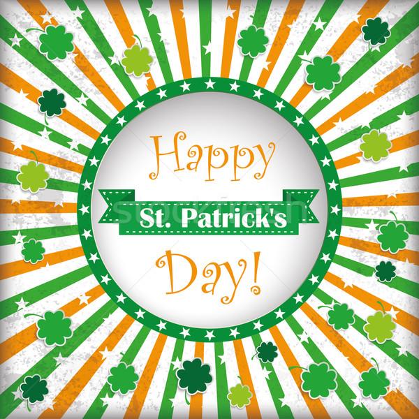 St Patricks Day Circle Hole Background Stock photo © limbi007