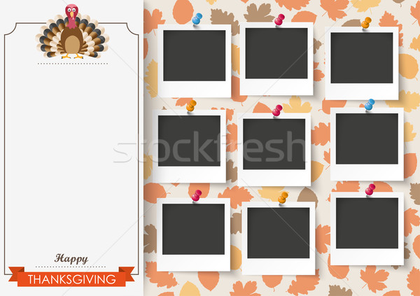 3 Banners Foliage Thanksgiving Turkey 9 Pics Stock photo © limbi007