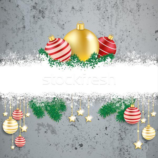 Сток-фото: красный · конкретные · Рождества · охватывать