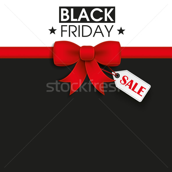 Red Ribbon Black Friday Shopmark Stock photo © limbi007