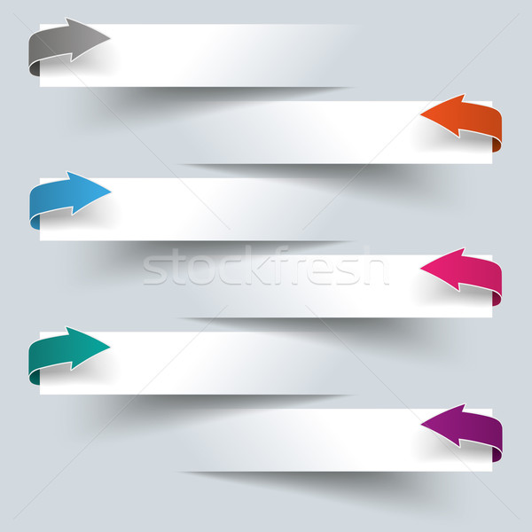 Infographic 6 Cutting Banners Colored Arrows Stock photo © limbi007