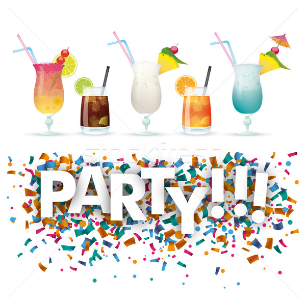 Confetti Cocktails Party Stock photo © limbi007
