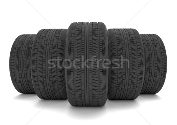タイヤ 5 白 3次元の図 車 ショップ ストックフォト © limbi007