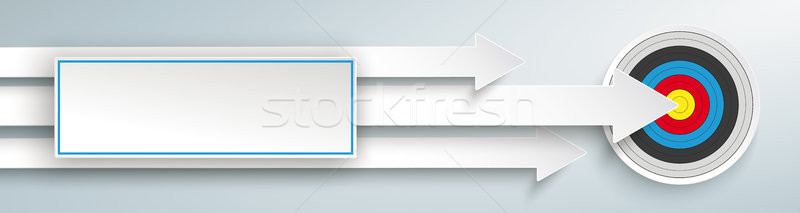 3 Arrows Target Sticker Header Stock photo © limbi007