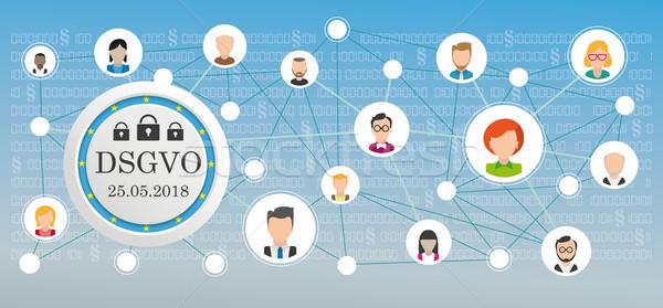 DSGVO Social Network Data Stock photo © limbi007