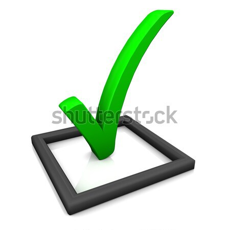 Stockfoto: Controleren · lijst · symbool · groene · witte · papier