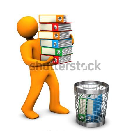 Büro Unternehmen orange Zeichentrickfigur Bären Batch Stock foto © limbi007