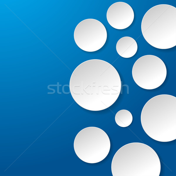 Round White Paper Blue Background Stock photo © limbi007