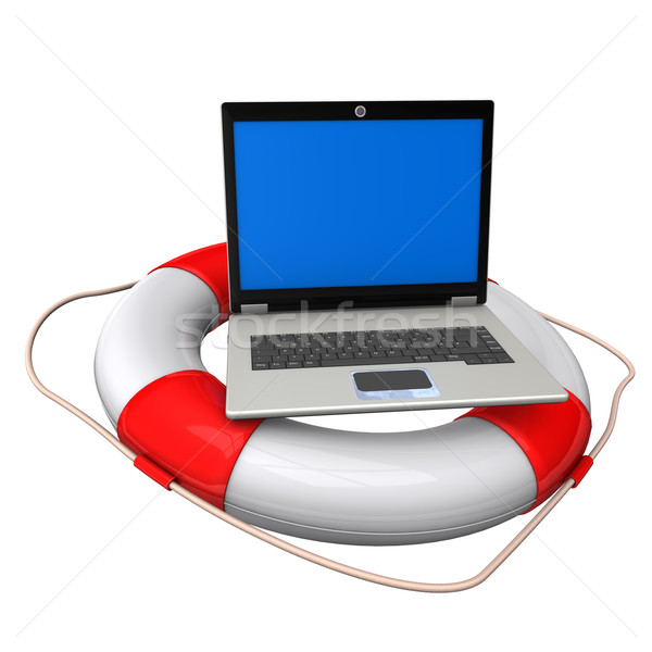 Laptop Lifebelt Stock photo © limbi007
