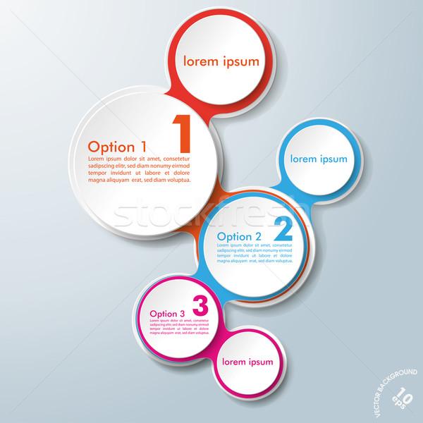 Stock fotó: Infografika · terv · színes · lánc · lehetőségek · fehér