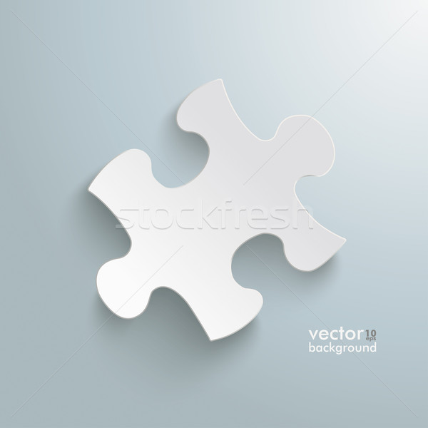 Puzzle Infographic Stock photo © limbi007