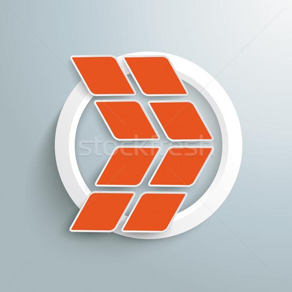 Rhombus Orange Arrow White Ring Stock photo © limbi007