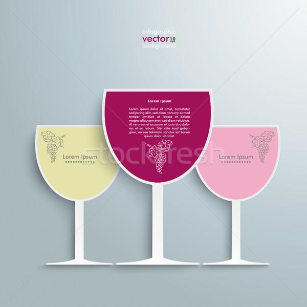 3 Colored Wineglasses Stock photo © limbi007