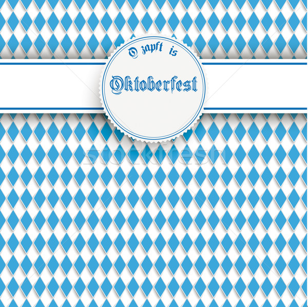 Bavarian Oktoberfest Flyer Banner Heart Stock photo © limbi007