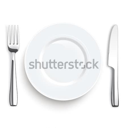 Knife Fork Stainless Steel Flatware Stock photo © limbi007