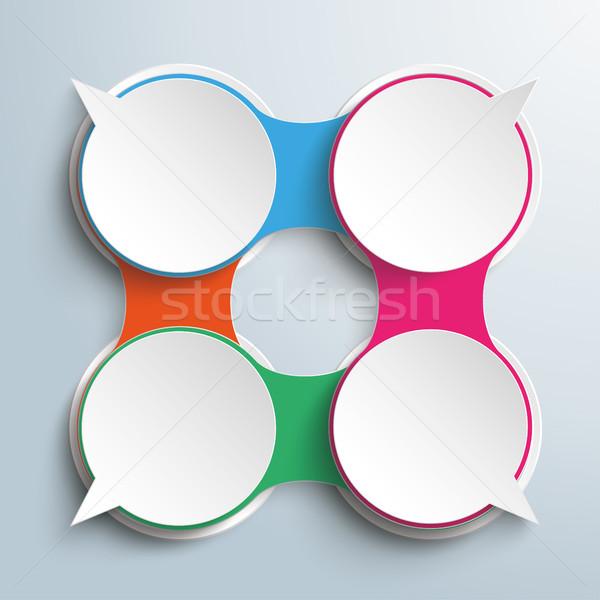 речи пузырь цепь опции диалог дизайна Сток-фото © limbi007