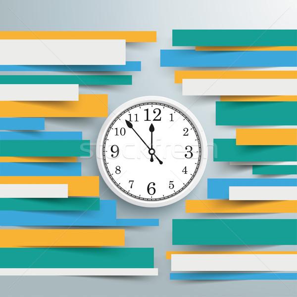Infographic Brochure Paper Lines Clock Stock photo © limbi007