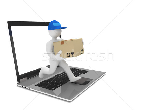Running Manikin Notebook Delivery Stock photo © limbi007