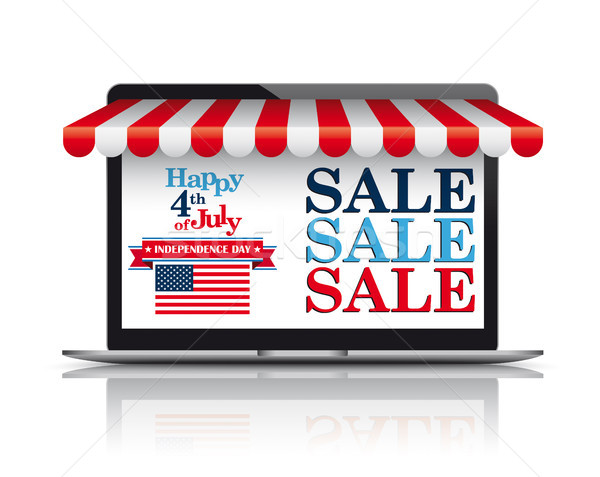 Notebook Red Awning Independence Day Stock photo © limbi007