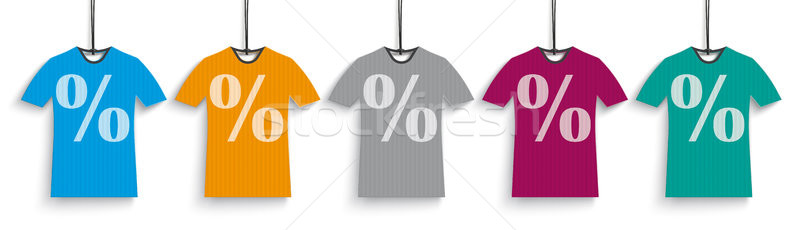 5 Colored Discount T-Shirts Header Stock photo © limbi007