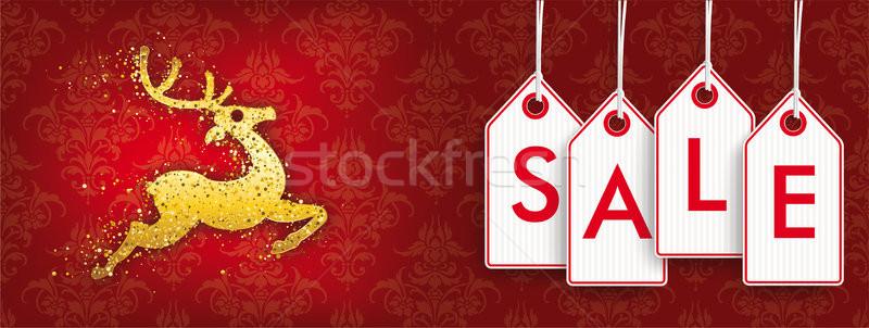 Natal dourado rena desconto Foto stock © limbi007