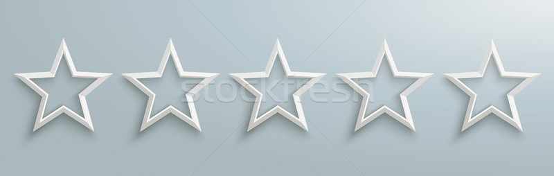 5 Stars Rating Header Stock photo © limbi007