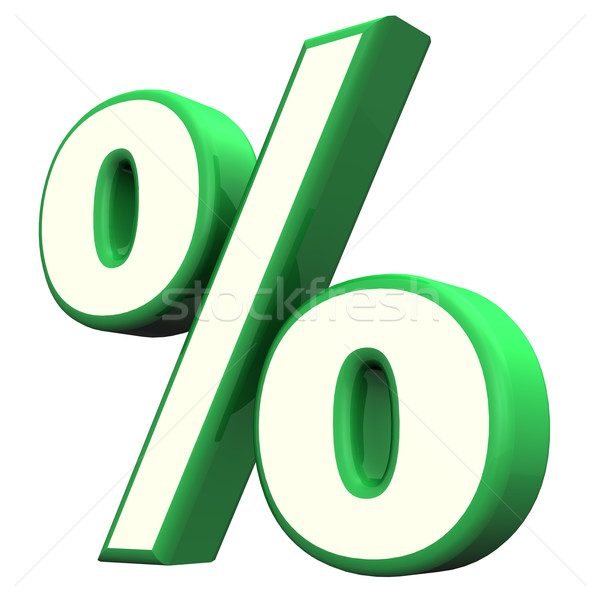 Green Percent Symbol Stock photo © limbi007