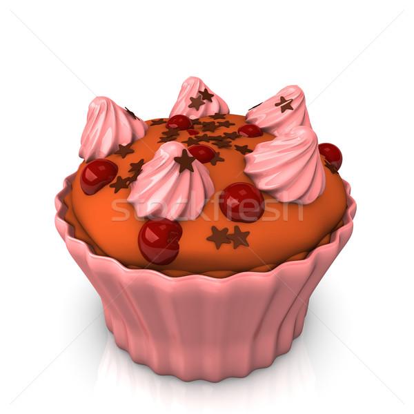 ピンク 星 ケーキ チョコレート 赤 ストックフォト © limbi007