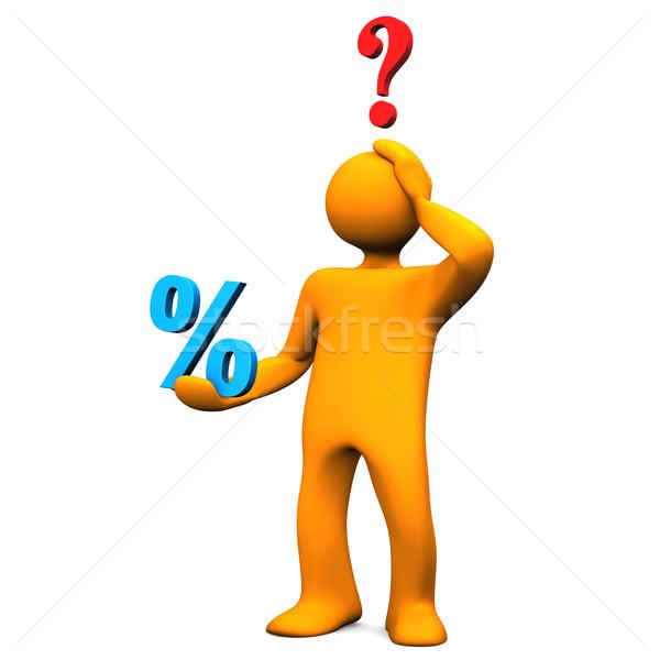 Manikin Percent Question Stock photo © limbi007