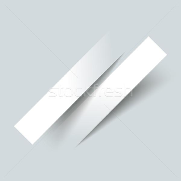 Infographic 2 Cutting Bevel Banners Stock photo © limbi007