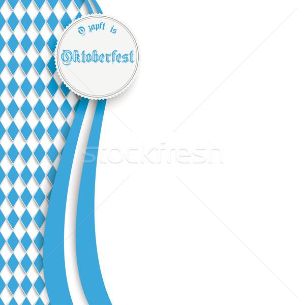 Oktoberfest flyer couleurs design blanche texte Photo stock © limbi007