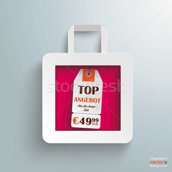 White Paper Shopping Bag Price Sticker Stock photo © limbi007