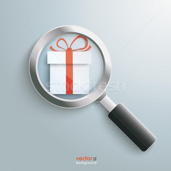 Paper Gift Loupe Stock photo © limbi007